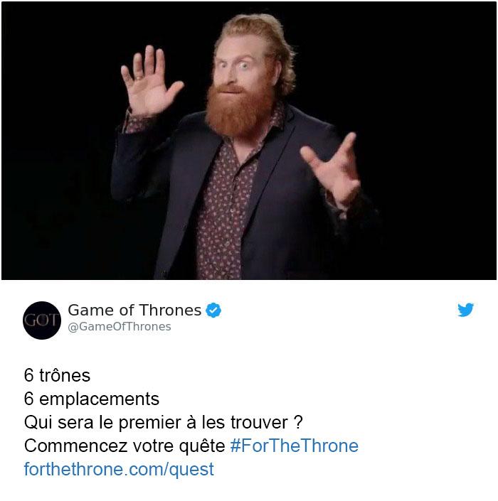 Game of Thrones a caché 6 trônes partout dans le monde pour une chasse au trésor épique et 2 n'ont pas encore été trouvés