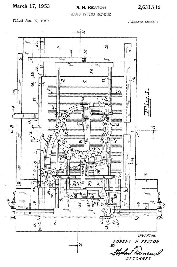 Voici une machine à écrire la musique des années 1950, il n'en reste plus qu'une poignée aujourd'hui