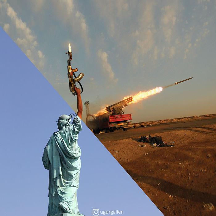 22 montages photo percutants qui montrent le contraste entre les deux mondes dans lesquels nous vivons