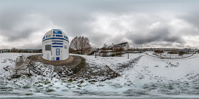 Un professeur allemand fanatique de Star Wars vient de transformer son observatoire en R2-D2