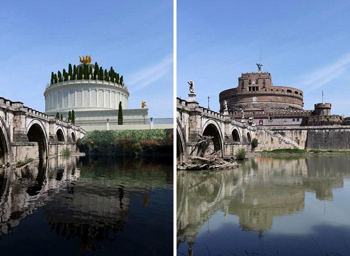 Voici à quoi ressemblaient 11 célèbres structures de la Rome antique dans le passé vs aujourd'hui ! By Ipnoze.com Structures-batiments-rome-antique-avant-apres-008