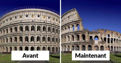 Voici à quoi ressemblaient 11 célèbres structures de la Rome antique dans le passé vs aujourd'hui