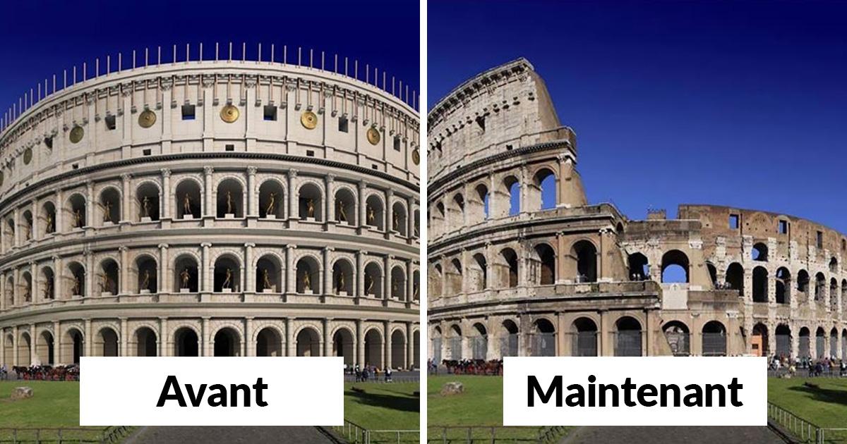 Voici à quoi ressemblaient 11 célèbres structures de la Rome antique dans le passé vs aujourd'hui ! By Ipnoze.com Structures-batiments-rome-antique-avant-apres