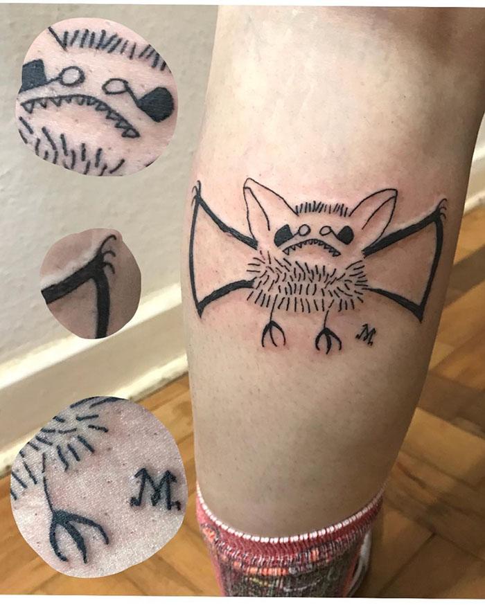 Cette tatoueuse ne sait pas dessiner et c'est justement pour cela que ses clients la choisissent ...