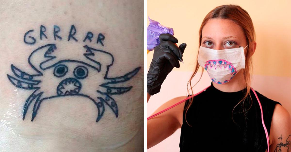 Cette tatoueuse ne sait pas dessiner et c'est justement pour cela que ses clients la choisissent (33 nouvelles images)