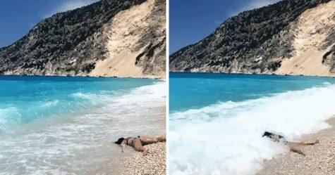 Cette femme prend des anti-selfies en «mourant» devant des sites touristiques et c'est étrangement hilarant (22 images)