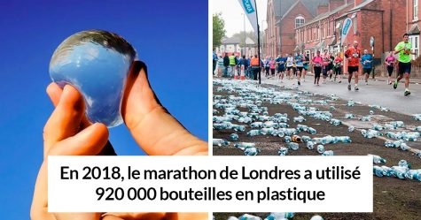 Le marathon de Londres a remplacé les bouteilles d'eau en plastique par des capsules d'eau biodégradables et comestibles