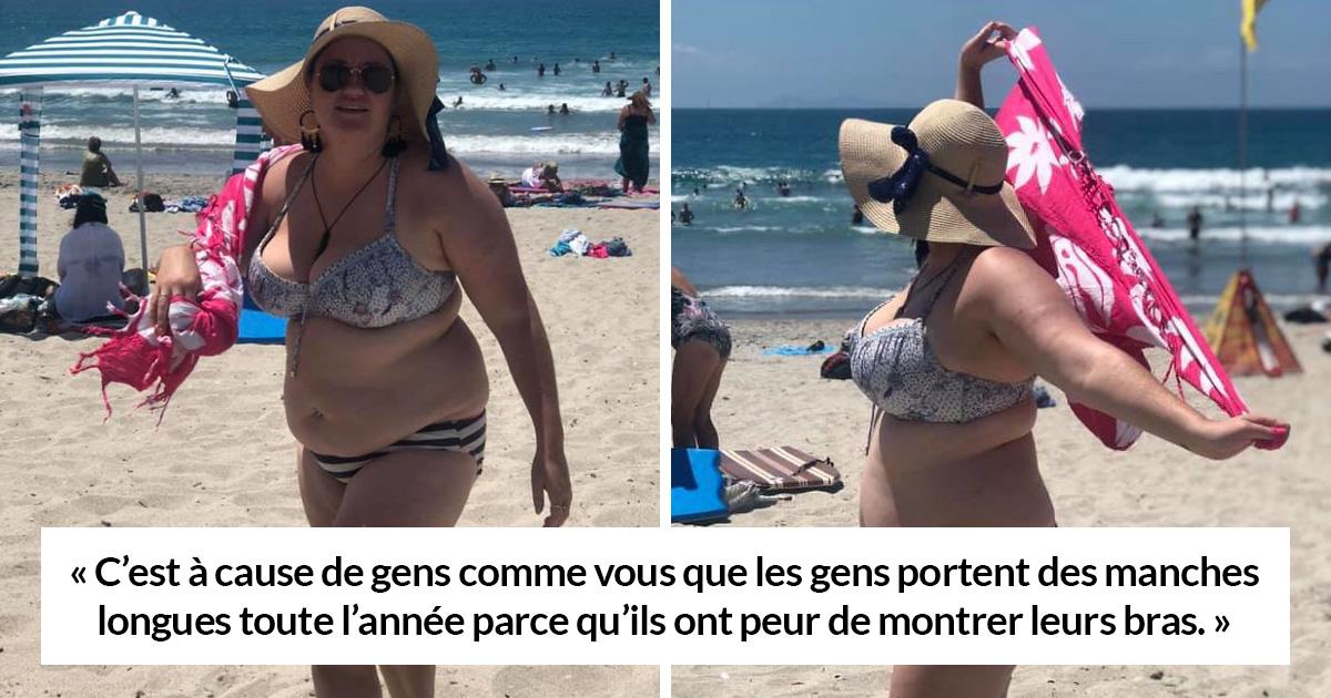 Des hommes se sont moqués de cette femme parce qu'elle portait un bikini, mais au lieu de se couvrir, elle les a fait taire