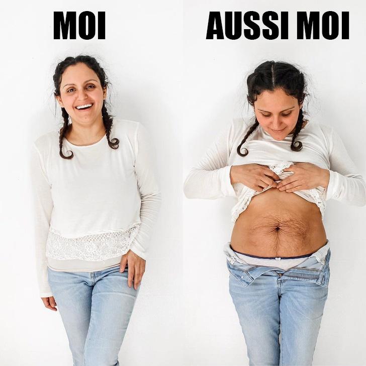 Une mère de 5 enfants a publié une photo de son ventre pour prouver que le corps de la femme est toujours magnifique et le soutien qu'elle a reçu est énorme