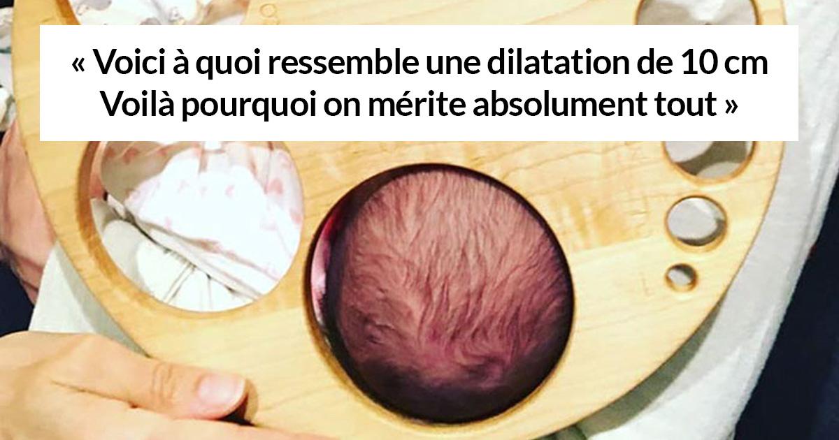 Ce «tableau de dilatation» aide les gens à comprendre que l'accouchement n'est pas seulement douloureux, c'est un sport extrême