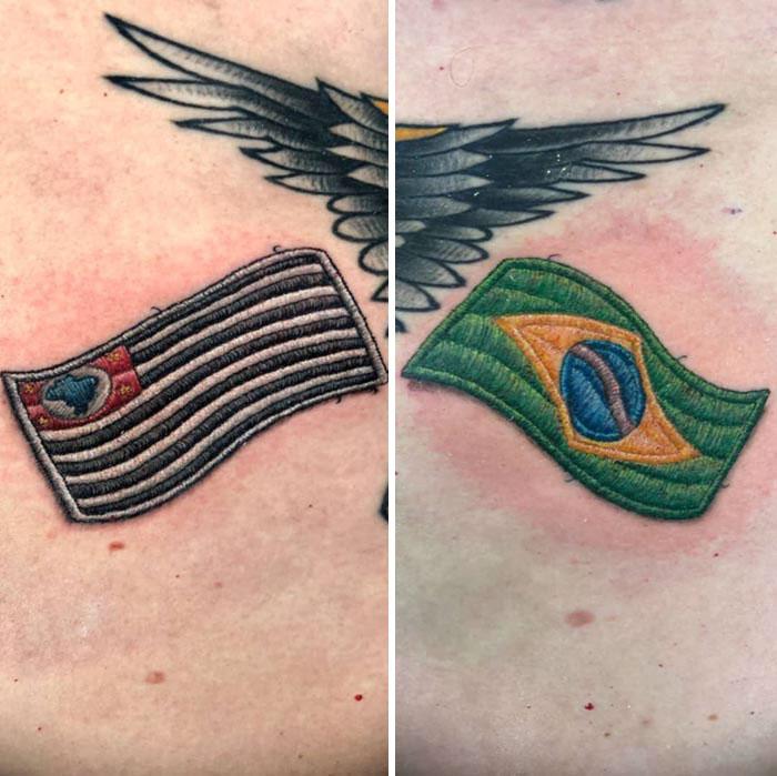 33 tatouages broderie qui ont apporté la célébrité à cet artiste brésilien
