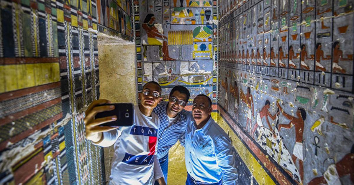 Des archéologues ont découvert une tombe de 4 000 ans en Égypte et on dirait qu'elle vient juste d'être peinte ! By Ipnoze.com Tombe-4000-ans-egypte-khuwy