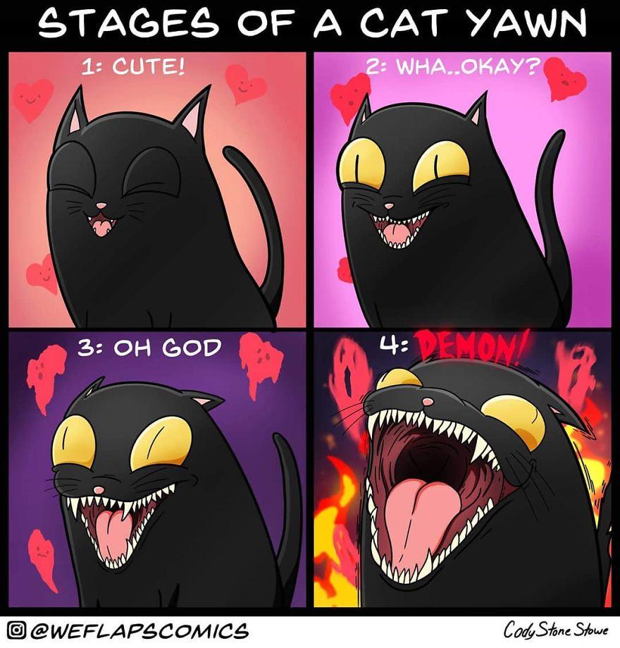 30 bandes dessinées qui montrent à quoi ressemble vraiment la vie avec un chat