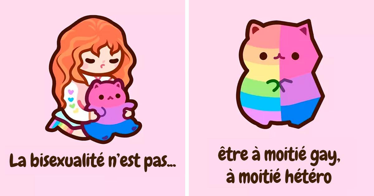5 idées fausses les plus courantes sur la bisexualité expliquées par des illustrations de chatons adorables