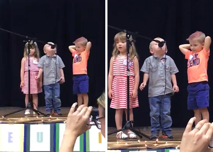 Ce gamin était censé chanter «Brille Brille», mais il a décidé de chanter «La Marche impériale» de «Star Wars» au lieu