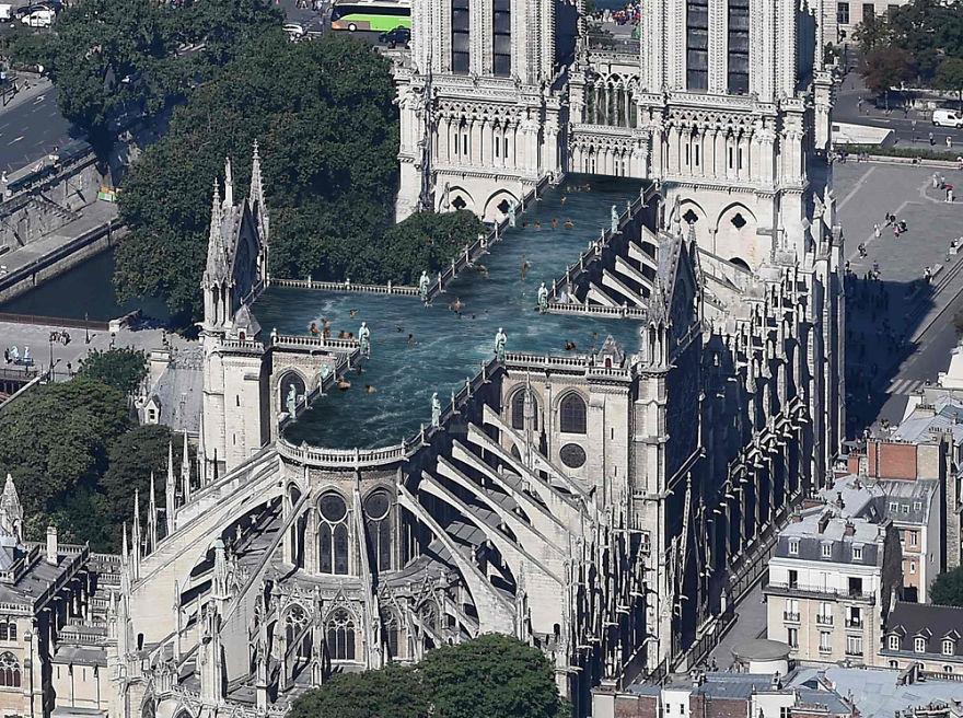 9 propositions ridicules pour la restauration de Notre-Dame