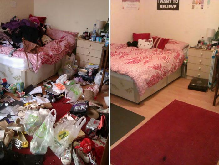 22 photos avant et après de chambres de personnes souffrant de dépression