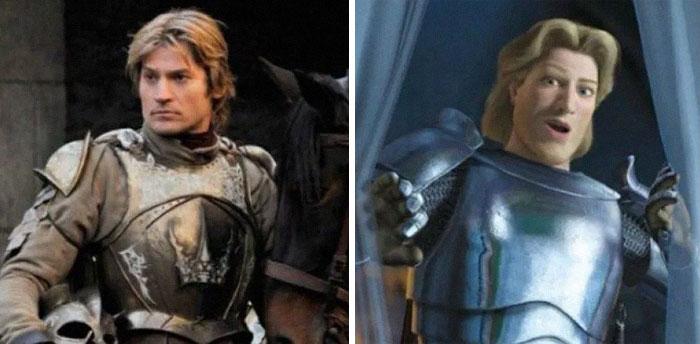Quelqu'un a comparé «Game of Thrones» à «Shrek» dans 17 scènes et les similitudes sont incroyables