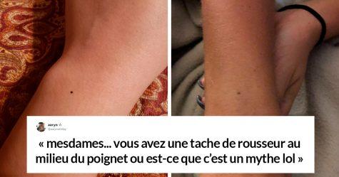 Quelqu'un a dit que toutes les femmes ont une tache de rousseur au milieu du poignet et les gens ont commencé à paniquer (23 images)