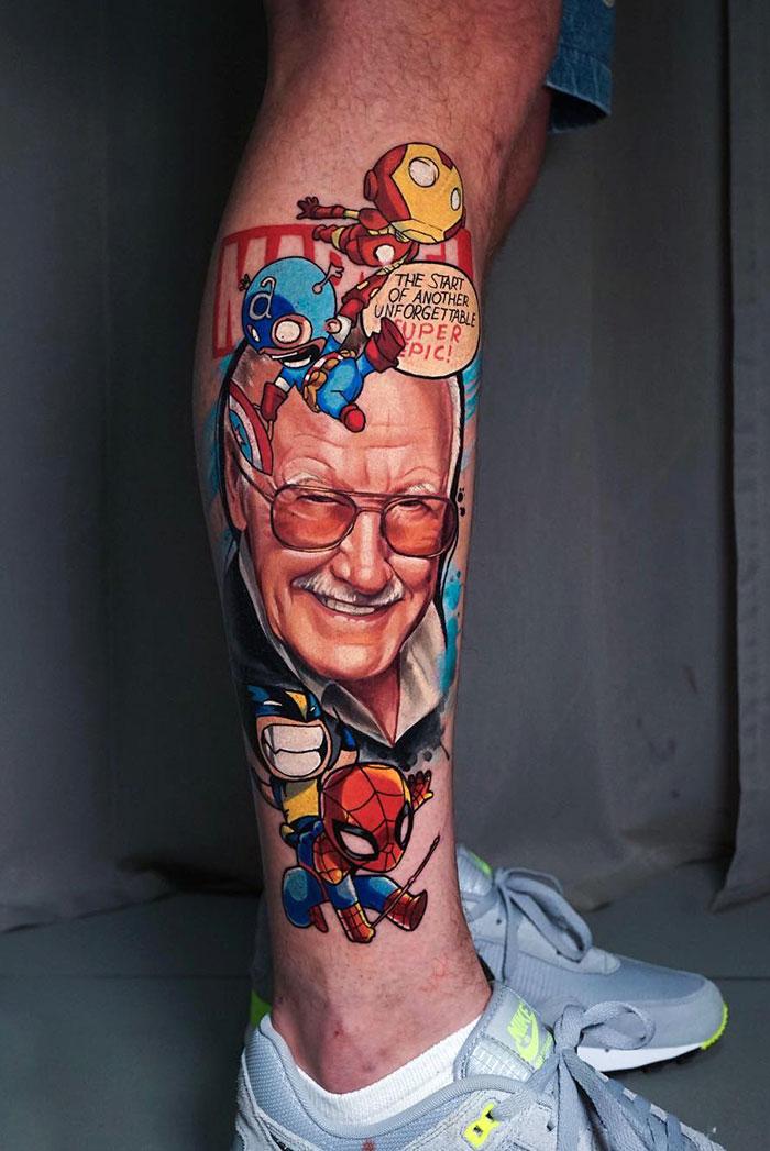 22 tatouages sur les jambes les plus épiques