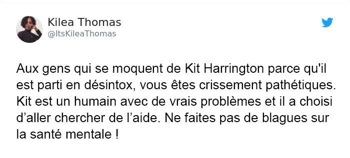 Quelqu'un a commencé à se moquer de Kit Harrington qui est parti en désintox, mais il s'est fait clouer le bec par des fans