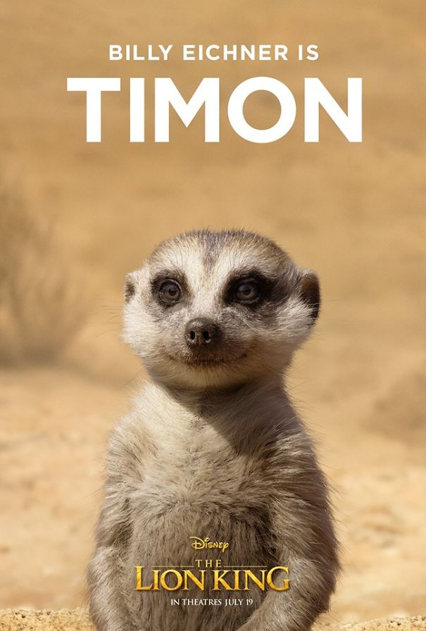 Disney a dévoilé 11 affiches pour les personnages principaux du nouveau film Le Roi lion
