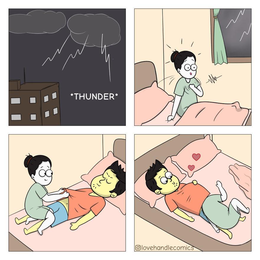 Mon petit ami est très différent de moi, mais nous sommes amoureux, alors j'ai illustré notre vie en 30 bandes dessinées