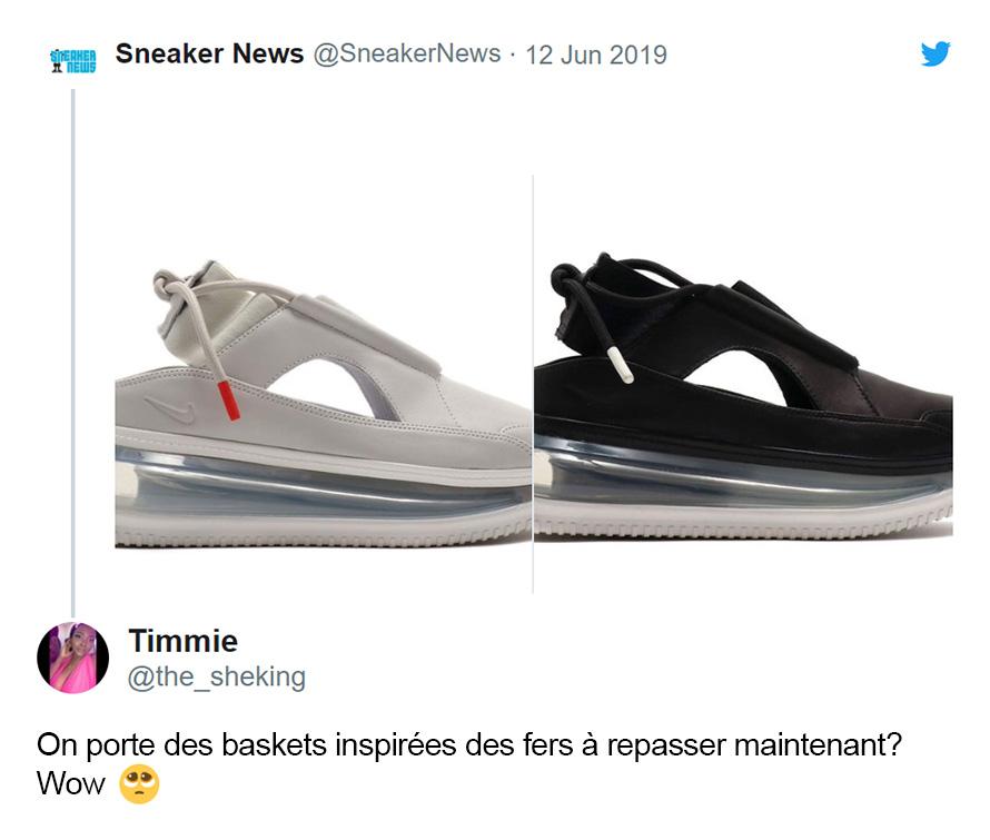Les internautes sont en colère à cause de ces nouvelles baskets Nike pour femmes qui «ressemblent à un fer à repasser»