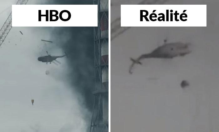20 comparaisons côte à côte du vrai Tchernobyl vs celui présenté dans l'émission de HBO