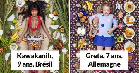25 enfants du monde entier photographiés avec ce qu'ils mangent en une semaine