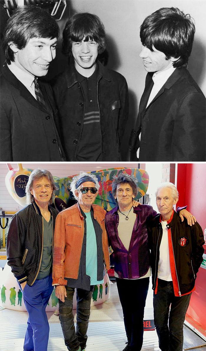20 photos de groupes de musique légendaires au début vs quand ils sont devenus célèbres