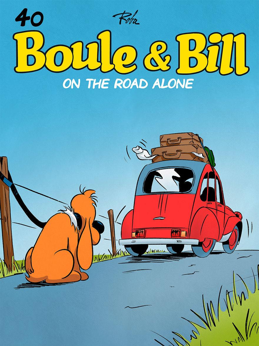 10 bandes dessinées par un artiste français qui sensibilisent la population à l'abandon des animaux de compagnie