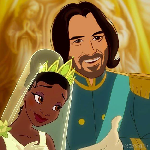Cette artiste a imaginé Keanu Reeves en tant que tous les princes Disney (9 images)