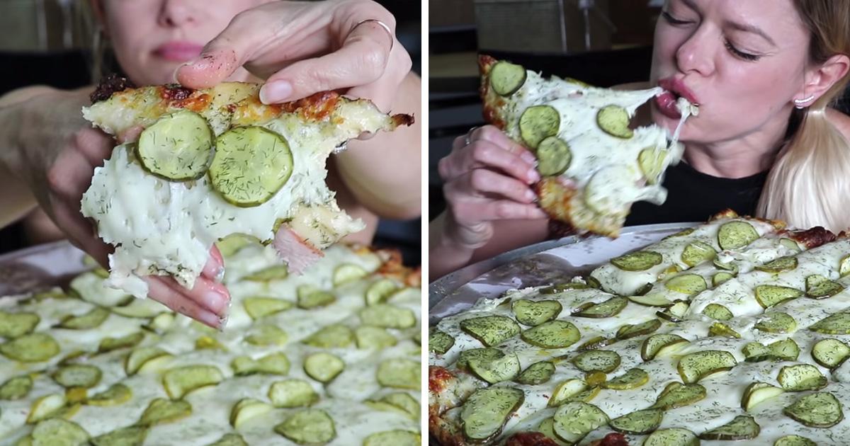Cette pizzeria a inventé une pizza de rêves recouverte de cornichons