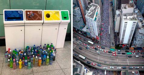 14 photos des manifestations massives à Hong Kong qui montrent la discipline et le respect du peuple