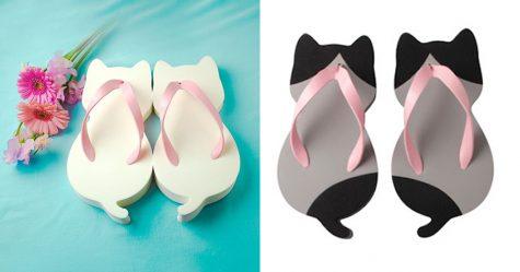 Ces sandales en forme de chat ont été créées par une entreprise japonaise et elles sont adorables