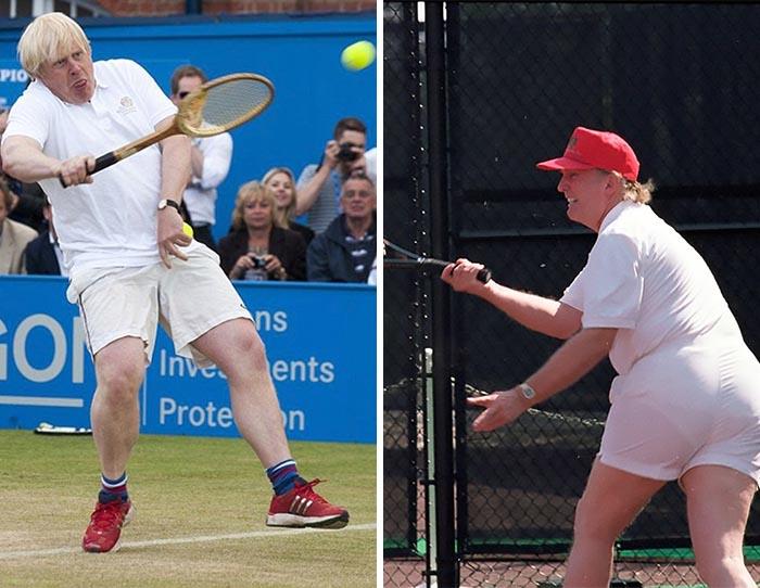 Des gens ont placé Trump et Boris Johnson côte à côte et la ressemblance est frappante (9 images)