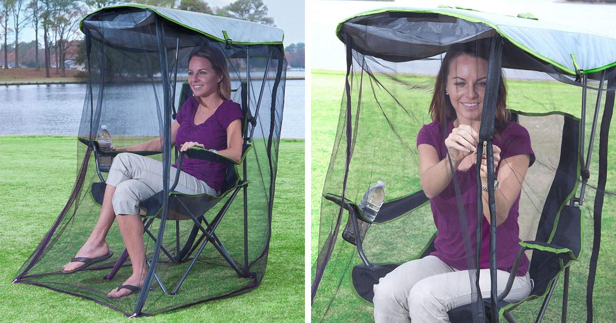 Amazon vend cette chaise de jardin qui te protège des insectes
