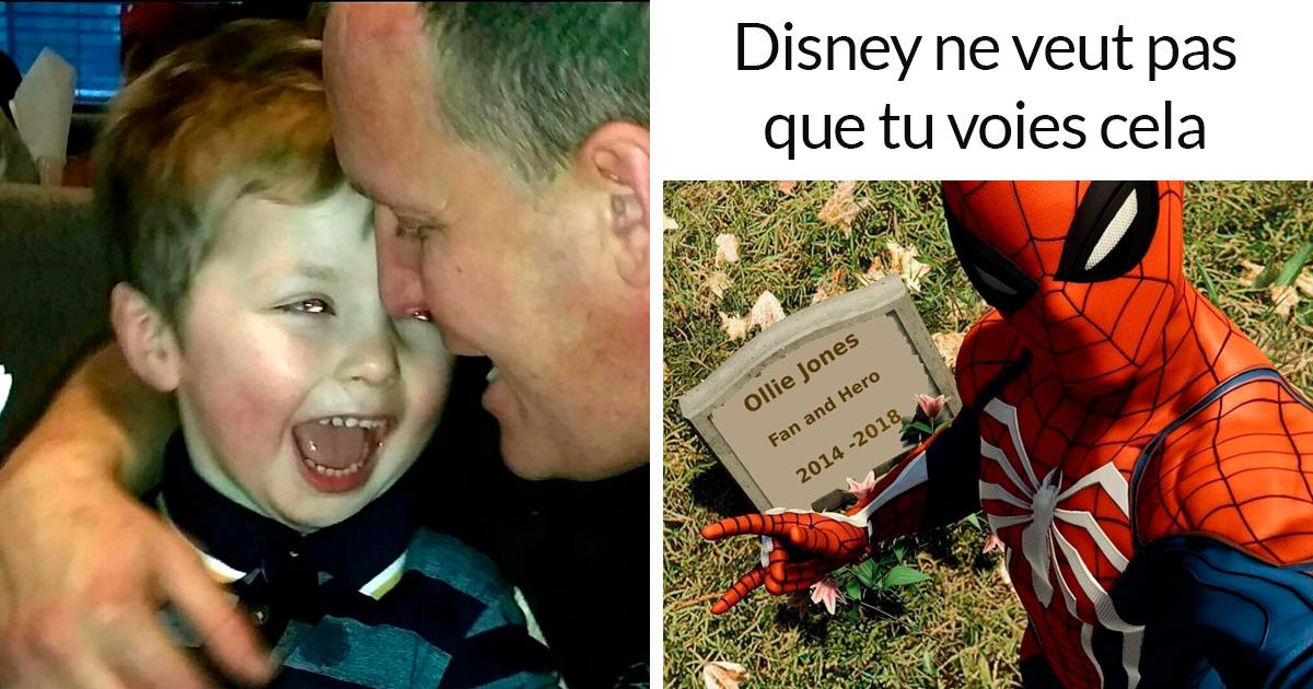 6 réactions à Disney qui a refusé de laisser un père en deuil mettre Spider-Man sur la pierre tombale de son fils de 4 ans