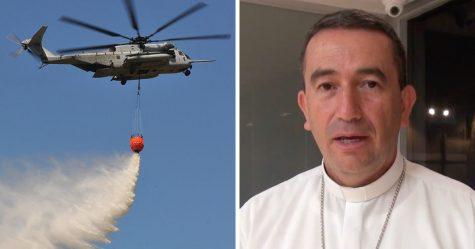 Un évêque va exorciser une ville en l'aspergeant d'eau bénite en hélicoptère