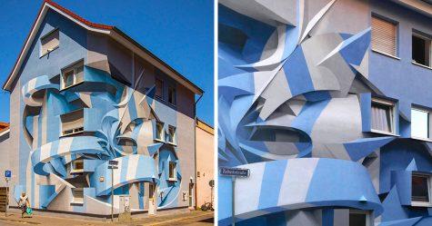 Ce graffeur étonne les passants avec ses dessins abstraits en 3D