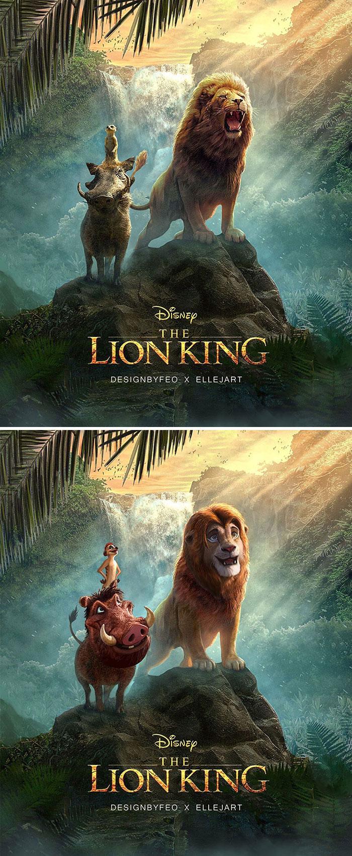 Des artistes ont donné aux personnages du Roi Lion un look différent et leurs illustrations sont devenues virales (13 images)