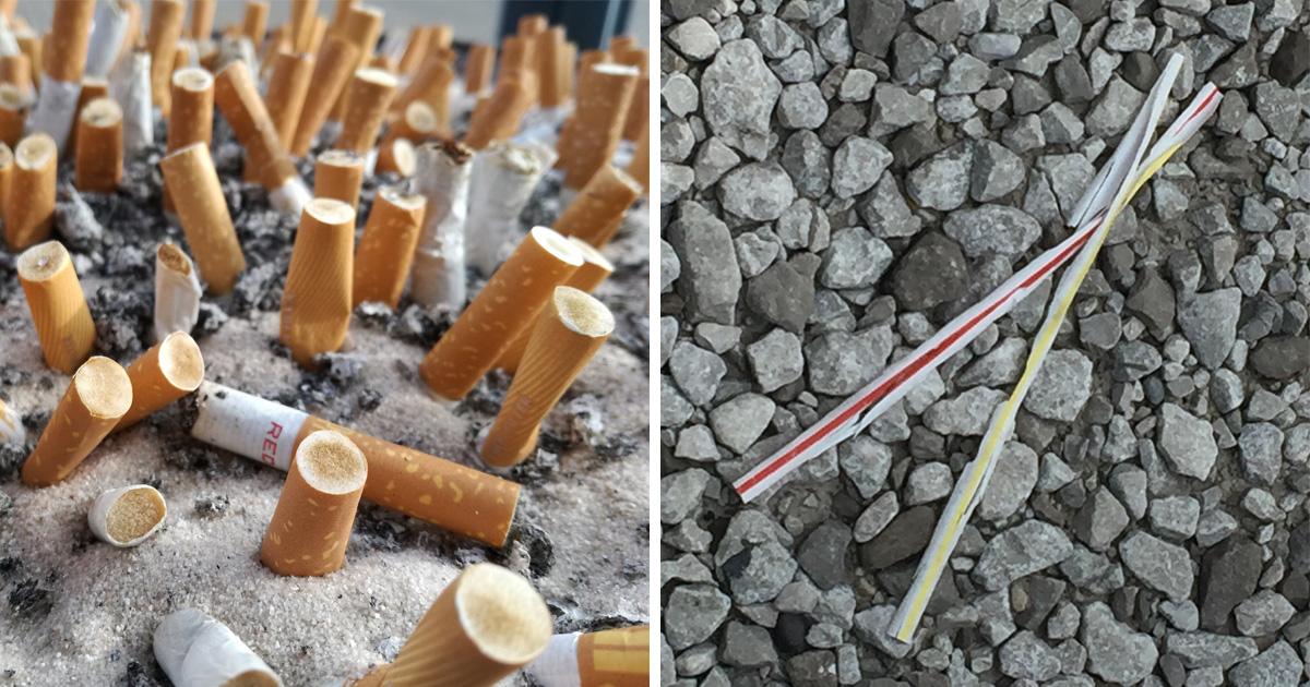 Les mégots de cigarettes sont un pire polluant que les pailles en plastique