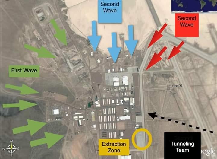 L'armée américaine est «prête» à affronter les 1,5 million de personnes qui prévoient envahir la zone 51
