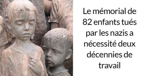 Ce mémorial obsédant commémore 82 enfants qui ont été livrés aux nazis et tués