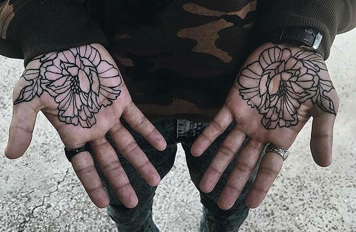 22 plus beaux tatouages dans la paume de la main