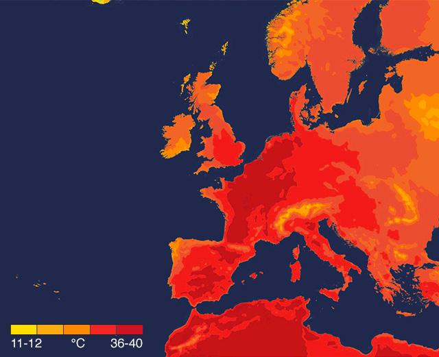 Cinq pays ont enregistré des températures record cette semaine et les changements climatiques sont à blâmer