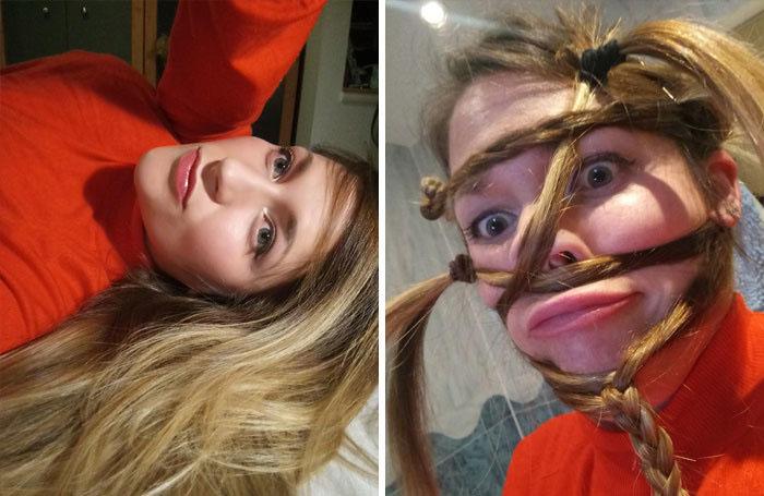 22 filles hilarantes qui ont montré à quel point la même personne peut être différente sur une photo (nouvelles images)