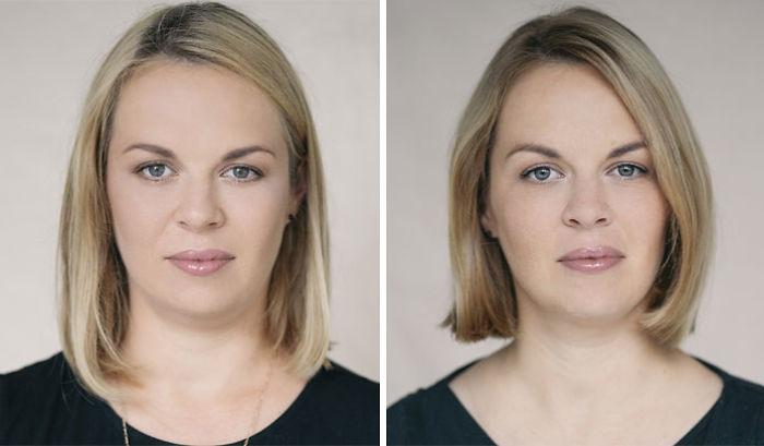 33 femmes qui ont été photographiées avant et après être devenues des mères