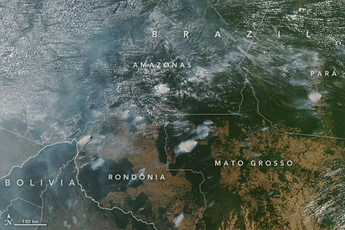 La forêt amazonienne brûle depuis des semaines et la NASA a partagé des photos de l'espace